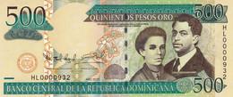 "Dominican Republic 500 Pesos 2010 UNC P-179c ""free Shipping Via Registered Air Mail"" - Dominicana"