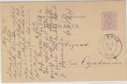 Ganzsache Mit Altstempel K2 Aus LENNEP 26.2.75 - Briefe U. Dokumente