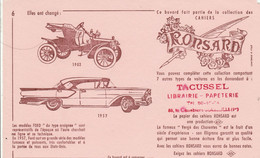 BUVARD... ELLES ONT CHANGE...VOITURE 1903...1957 - Automotive