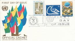 NATIONS UNIES FDC 1974 - Briefe U. Dokumente