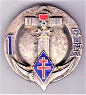 1° RIMa. 1° Régiment D'Infanterie De Marine. Arémail. 2 Anneaux. - Army