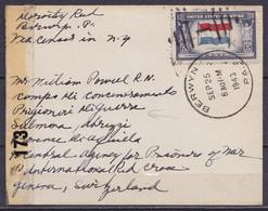 USA - L. Affr. 5c Càd BERWYN /SEP 25 1943 Pour Prisonnier De Guerre Américain à SALMONA Abruzzi Via Croix-Rouge à GENEVE - Covers & Documents