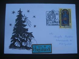 Österreich- Christkindl 24.12.2003, Schmuck-Beleg Mit Sonderstempel Und Leitzettel Gmünd - 2001-10 Brieven