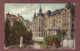 ST. GALLEN - Partie Am Burggraben - Scheitlin-Denkmal - 1908 // Eckbug // - SG St. Gallen