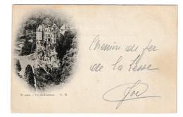 Dinant Walzin Vue Du Chateau Cachet 1898 Namur Belgique - Dinant