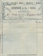 1900 Basel,Lüchinger & Co,Eier,Butter ,Käse Rechnung - Svizzera