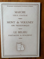 MAICHE VIEUX CHÂTEAU MONT DE VOUGNEY LE BELIEU - Arqueología