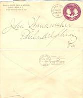 ETATS-UNIS ENTIER PRIVÉ : 4ème Centenaire De La Découverte De L'Amérique Par COLOMB TàD DUPLEX BINGHAMTOM 29 JUL 1893 - ...-1900