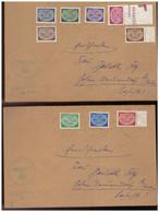 GG (007778) 2 Belege Mit DM MNR 16/ 24 Satzbriefe Gelaufen 1941 Demblin/ Gr. Posten Irena Mit Dienststempel - Ocupación 1938 – 45