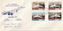NOUVELLES HEBRIDES FDC 1978 CONCORDE - Covers & Documents