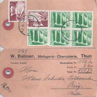 "NN Paketadresse  ""Balmer, Metzgerei/Charcuterie, Thun"" - Brig          1951 - Briefe U. Dokumente"
