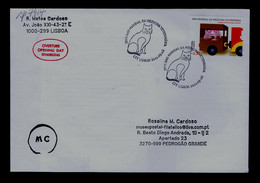 Sp7914 PORTUGAL Lisboa (2011 World Year Veterinary Médecine) Cats Faune Domestic  Mailed (expertise) - Chats Domestiques