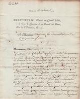 1811 Paris - L.S. HUART-DUPARC, Avocat Au Conseil D'État, Aux Administrateurs De L'HOSPICE De FIGEAC - Affaire Non Term - Documents Historiques