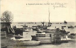 PASSAY Le Port Barques De Peche Et Casiers à Poissons Sur L'Etang De Grand Lieu RV - Altri Comuni