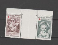 """FRANCE / 1962 / Y&T N° 1366/1367 ** : Croix-Rouge (""""Fragonard"""" 2 TP De Carnet Se Tenant) X 1 - Neufs"""