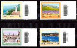 Italia 2021 - Turismo Bologna, La Maddalena, Maratea, Norcia Codice A Barre MNH ** - Codici A Barre
