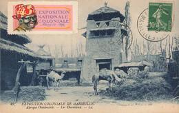 MARSEILLE : EXPOSITION COLONIALE 1922 - AFRIQUE OCCIDENTALE - LES CHAMEAUX ( AVEC VIGNETTE) - Andere
