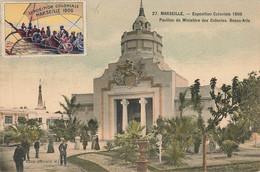 MARSEILLE : EXPOSITION COLONIALE 1906 - PAVILLON DU MINISTERE DES COLONIES ( AVEC VIGNETTE) - Andere