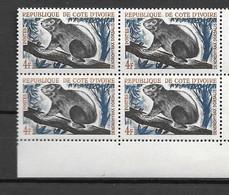 1963 - N ° 213** MNH - Chasse Et Tourisme - Bloc De 4 - 1 - Ivoorkust (1960-...)