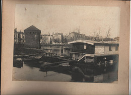 2 Grandes Photos Originales Angers Maine Et Loire 49 Inondations 1910 - Orte