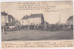 Vilvoorde - Veemarkt (D.V.D. 8492) (Verelst-Peeters) (geanimeerde En Gelopen Kaart Van Voor 1900 Met Zegel) - Vilvoorde