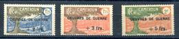 Cameroun France Libre - Yvert 233 à 235 - Maury 191 à 193 - Neuf XXX Gomme Coloniale Jaunie - T 1062 Bas - Neufs