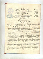Acte  Huissier Chaumont  Police Assurance  Canton Gisors - Documents Historiques