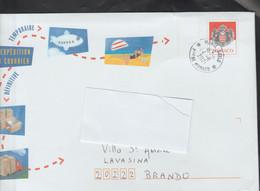 Entier Lettre Réexpédition Du Courrier . Oblitérée Août 2021 - Postal Stationery