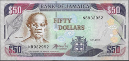 JAMAICA  UNC  50 DOLARES  2008  PREFIX NB - Jamaica