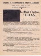 "GIRONDE - ST-MEDARD-de-GUIZIERES - Henri PEROT - La Brouette Agricole "" TEXAS "" - Advertising"