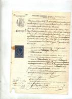 Acte  Huissier  Prôtet  Chaumont Timbre Fiscal France Copie - Revenue Stamps