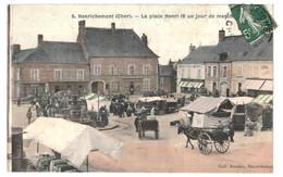 CPA - Carte Postale France- Henrichemont- Place Henri IV Un Jour De Marché 1910 VM36024ok - Henrichemont