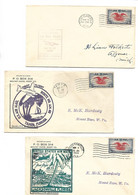 3 Pcs AIRMAIL 6 Cents  1938 With First Flight - 1a. 1918-1940 Used