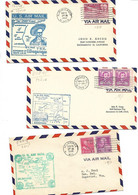 3 Pcs AIRMAIL 6 Cents  1948/1949/1950  With First Flight Stamped - 1a. 1918-1940 Used