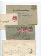 8401) 10 Belege Gesamtdeutschland - Affrancature Meccaniche Rosse (EMA)
