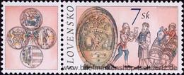 Slowakei 2002, Mi. 425-26 Zf2 ** - Unused Stamps