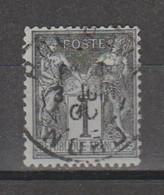 Sage Type LI N Sous U  1c Noir Sur Azuré N°83 - 1876-1898 Sage (Type II)