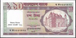 BANGLADESH  UNC  10 TAKAS  1996  CONMEMORATIVO - Bangladesh