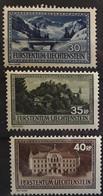 LIECHTENSTEIN 1935, 3 Timbres Serie Courante Yvert 131 / 133 , Neufs ** MNH Cote 23 Euros - Unused Stamps