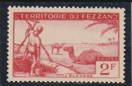 TIMBRE DE FEZZAN  élevage  N° 58 ** - Unused Stamps