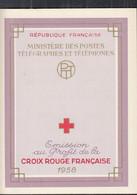 FRANKREICH 1224-1225, Markenheftchen Rotes Kreuz, Postfrisch **, 1958, Persönlichkeiten - Croix Rouge