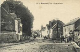 BRETEUIL (Oise) Rue De Paris Animée RV - Breteuil