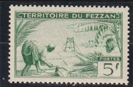 TIMBRE DE FEZZAN  Agriculture  N° 60** - Ongebruikt