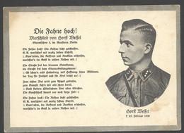 AK/CP Horst Wessel  Propaganda  Nazi   Ungel/uncirc. 1933-45   Erhaltung/Cond. 2 / 2-  Nr. 01380 - War 1939-45