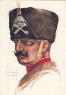 ILLUSTRATEUR EMILE DUPUIS - LILLE 1914  LEURS CABOCHES   N°31   HUSSARD DE LA MORT - Dupuis, Emile