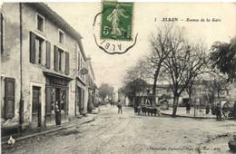 ALBAN  Avenue De La Gare Tabac Animée RV - Alban