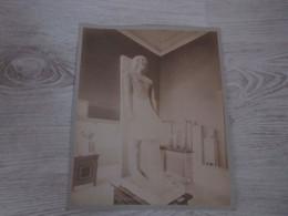 PHOTO ANCIENNE ALBUMINEE 29 X23 - EGYPTE - GIZEH - Statue ( Collée Sur Carton ) - Oud (voor 1900)