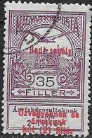 HUNGARY 1914 War Charity - Turul Surcharged - 35f.+2f - Purple FU - Usado