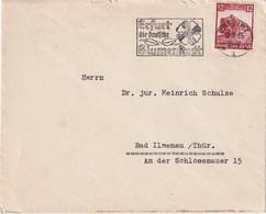 ALLEMAGNE 1935 LETTRE DE ERFURT - Lettres & Documents