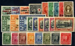 Costa Rica (Aéreo) Nº 105/7, 122, 143/64 Año 1945/7 - Costa Rica